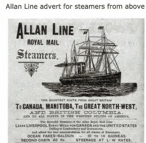 Part of Alan Line advert#